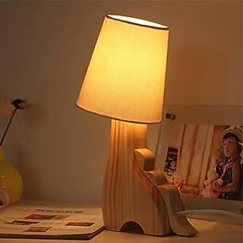 Una lampade da tavolo luce animale di legno illuminazione - Amazon lampade da tavolo ...