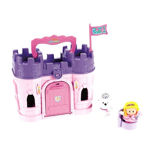 Exclusive Fisher-Price Little People Play 'N Go Castle - Pink Princess