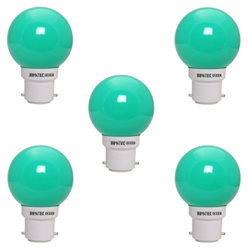 0.5W LED Bulb (Green, Pack of 5)