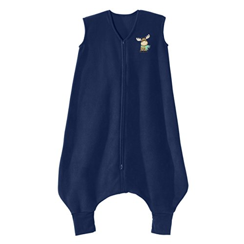 HALO Big Kids Sleepsack Micro Fleece Wearable Blanket, Blue Moose, 2-3T