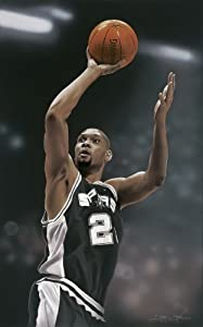 Tim Duncan Officially Licensed Sports Art by Victory Fine Art