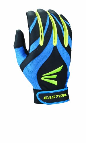 Easton Youth Synergy II Fastpitch Batting Gloves, Blue/Green/Black, Small (Blue Batting Gloves compare prices)
