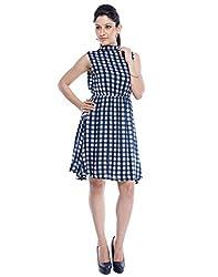 Designeez Multicolored Checkered Mini Shift Dress
