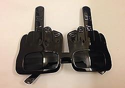 Funcart Black Middle Finger Sunglasses