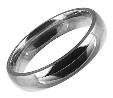 Kareco 18ct White Gold Gents 4mm Medium Court Wedding Ring