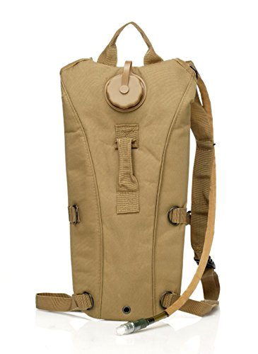 KLAREN US Army 3L 3 Liter (100 ounce) Hydration Pack Bladder Water Bag Pouch Hiking Climbing Survival Outdoor Back pack (Desert Tan) (5 8 Inch Spigot compare prices)