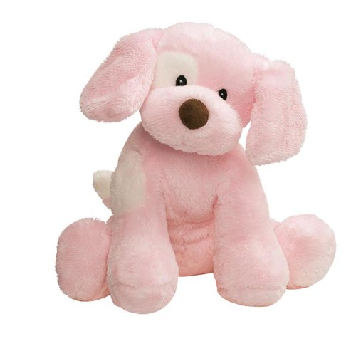 Gund Baby Spunky Plush Puppy Toy, Small, Pink