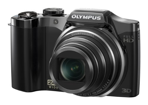 Olympus SZ-30MR Digital Camera - Black (16MP, 24x Wide Optical Zoom) 3.0 inch LCD
