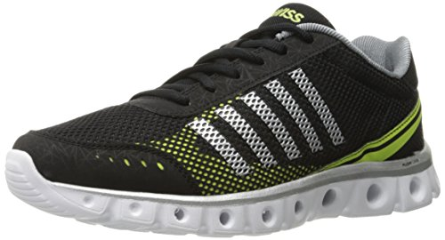 K-Swiss Men's X Lite Athletic CMF Cross-Trainer Shoe, Black/Charcoal/Optic Yellow, 10.5 M US