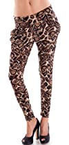 Ladies Leopard Print Harem Pants