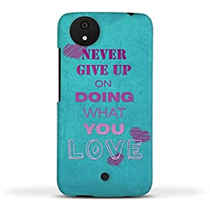 FUNKYLICIOUS Micromax Android A1 Back Cover Never give up on doing what you love Design (Multicolour)