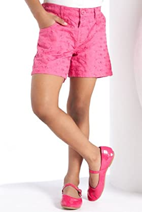 Pure Cotton Broderie Embroidered Shorts [T77-5601-Z]