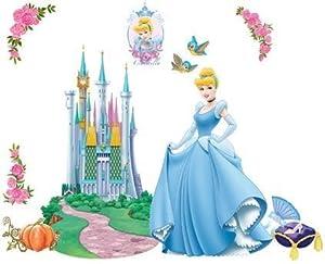 Zs001ab cinderella disney princess dekor f rs kinderzimmer for Kinderzimmer cinderella
