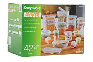 BPA Free Snapware 42 Piece Airtight Plastic Storage Container Set, NEWEST MODEL by Snapware