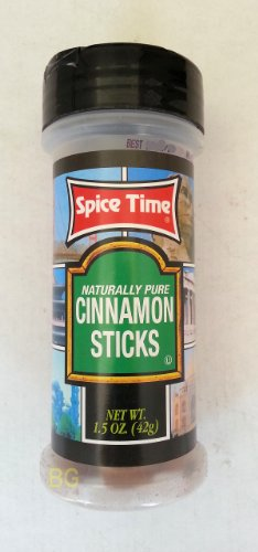 Cinnamon Sticks Seasoning By Spice Time Spices & Herbs 1.5 Oz... Mtc