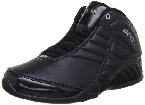 And1 Mens ROCKET 3.0 MID Basketball Shoes  Black Schwarz (Black/Black/Silver) Size: 6.5 (40.5 EU)