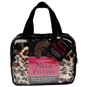 Swissco Stress Relief Neck Pillow With Leopard Print in PVC Bag