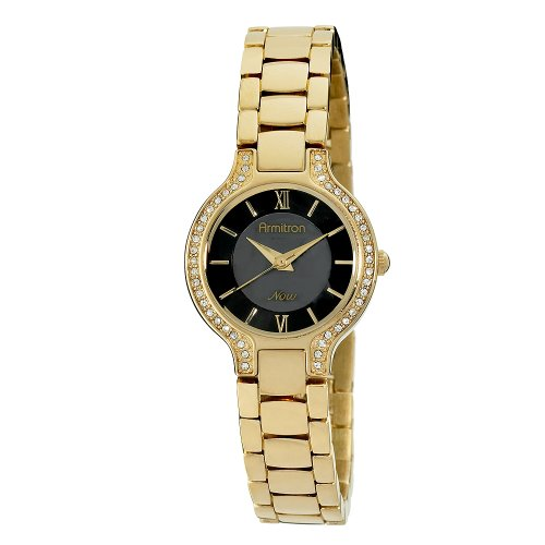 Armitron Women's 753845JMGP NOW Swarovski Crystal Accented Gold-Tone Dress Watch