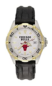 Chicago Bulls Mens NBA All-Star Watch (Leather Band) by NBA Officially Licensed