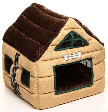 Super Soft Nice Brown Indoor Dog House/pets Beds Pet Kennels Crates & Houses-brown