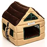 Super Nice Brown Indoor Soft Dog House/pets Beds Pet Kennels Crates & Houses-brown (43x43x46cm)