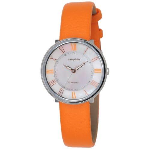 [リコー]RICOH 腕時計 monperier emit(モンペリエ・エミット) ソーラーエネルギーウォッチ アナログ表示 レザーベルト オレンジ 699003-12 レディース