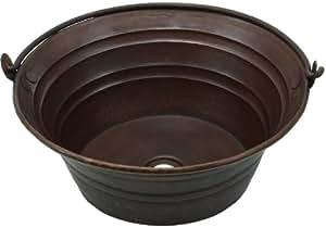 Bucket Vessel Sink : ... Copper Bucket Vessel Sink w/handle - Pedestal Sinks - Amazon.com