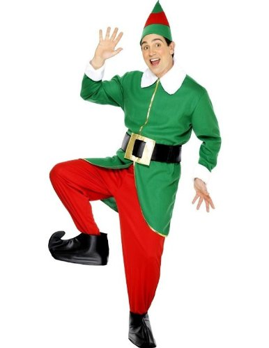 Adult Elf Fancy Dress Costume GREEN