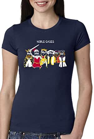 Womens Noble Gases T Shirt Womens Funny Science Shirt Chemistry Tee S
