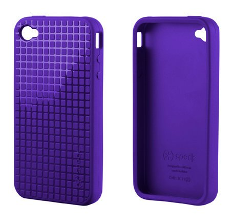 Speck SPK-A0015 PixelSkin HD TPU Case for iPhone 4/4S, AT&T and Verizon, 1-Pack (Purple)