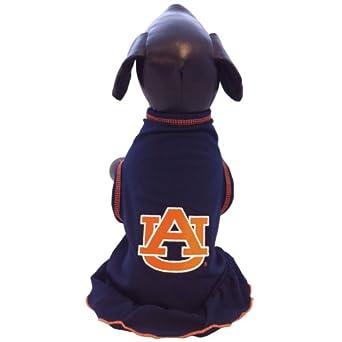 NCAA Auburn Tigers Cheerleader Dog Dress (Team Color, Large)