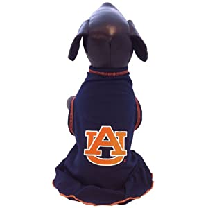 NCAA Auburn Tigers Cheerleader Dog Dress (Team Color, X-Large)