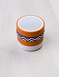 Music That'll Move Ya Herringbone Bluetooth Speaker Pumpkin / Velvet Purple