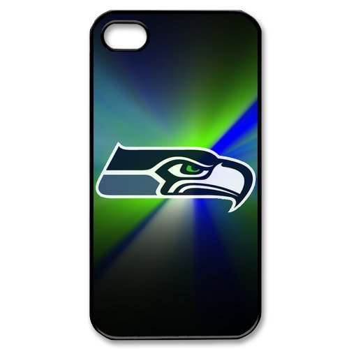 NFL Team Seattle Seahawks Logo Series Customized Special DIY Hard Best Case Cover for iPhone 4 4s at Amazon.com