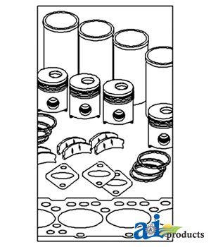 A & I Products In Frame Engine Overhaul Kit Replacement For John Deere Part N...