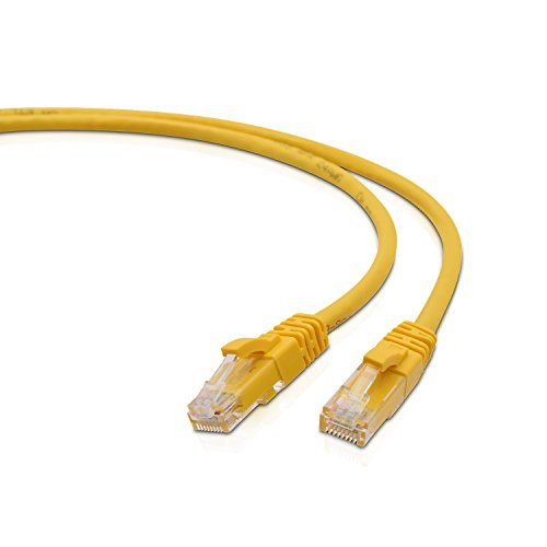 V7 CAT5e Snagless Molded Networking Ethernet Patch Cable RJ45 Male to Male, (7-Feet) (V7N3C5E-07F-YLWS) – Yellow