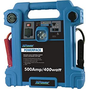 NPower Powerpack Emergency Power Source with Air Compressor - 500 Amps, 400 Watts by NPower