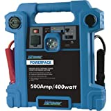 NPower Powerpack Emergency Power Source with Air Compressor - 500 Amps, 400 Watts