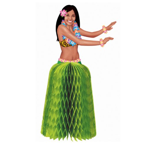 Hula Girl Mini Honeycomb Centerpieces Party Accessory