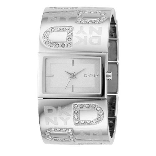 DKNY Women's NY4738 Silver Stainless-Steel Analog Quartz Watch with Silver Dial