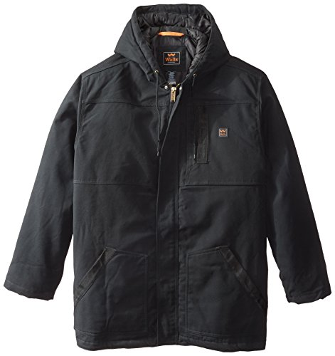 Walls Men's Big Longhorn Blizzard-Pruf Insulated Hooded Coat, Midnight Black, XXX-Large