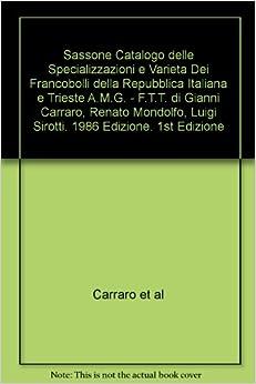 Sassone Catalogo delle Specializzazioni e Varieta Dei