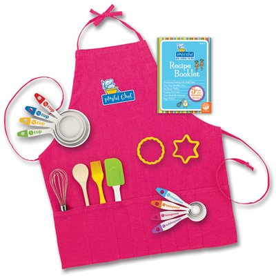 Playful Chef Baking Pink Apron front-829386