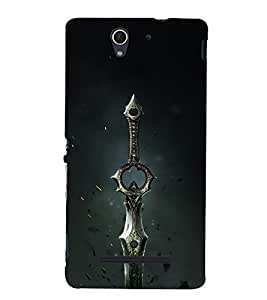 Drow Long Knife 3D Hard Polycarbonate Designer Back Case Cover for Sony Xperia C3 Dual D2502 :: Sony Xperia C3 D2533