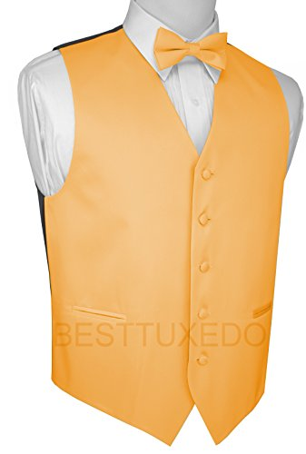 Brand Q Men's Tuxedo Vest and Bow-Tie Set in Buttercup q and q a438 204