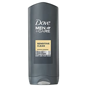 Dove for Men Sensitive Clean Body and Face Wash - 250 ml