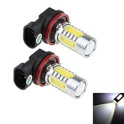 See 2Pcs H8 16W 2x Cree XP-E + 4x COB 1500LM 6000K White Light LED for Car Headlamp / Fog Light Lamp (DC 12-24V) Details