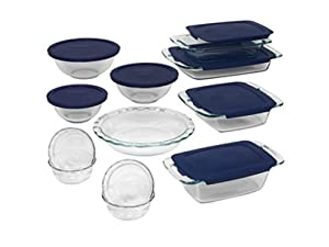 World Kitchen 1058994 Pyrex Bakeware 19-Piece Baking Dish Set, Clear