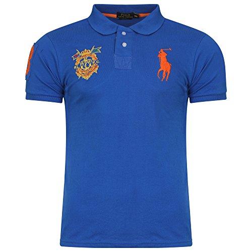 ralph-lauren-masterclass-big-pony-de-manga-corta-custom-fit-camisa-de-polo-para-hombre-azul-azul-rea