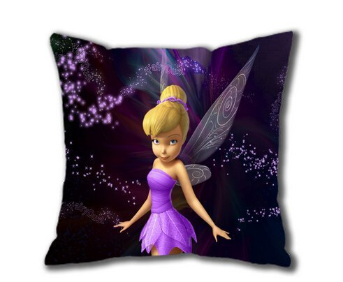 Hot New Pillowcase Custom Cartoons Peter Pan Tinkerbell in Purple Pillow Case 18x18 Inch Two Sides